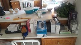 Various household items, small appliances.