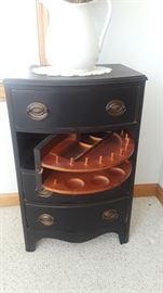 Sewing Cabinet, turnstile storage.