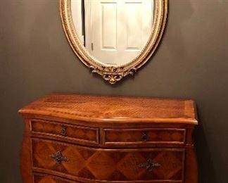 Phenomenal gold gilt mirror