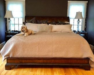 Matching King Bed (dog not included!)