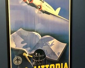 Ala Littoria Poster, framed!