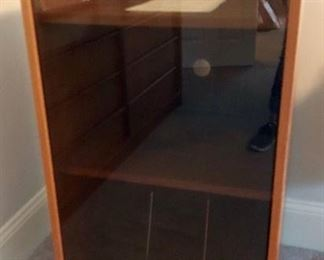 MCM Style Stereo Cabinet with glass front
