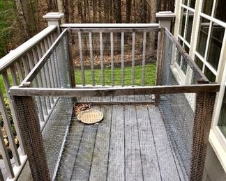 Dog/cat/chicken kennel...I guess it could be turtles or ferrets or whatever!