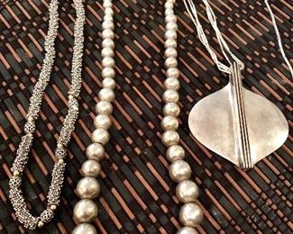 Lots of pretty sterling pieces!