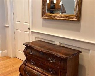 Gorgeous antique Dutch bombe chest of drawers