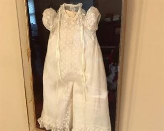 Antique baby baptism gown