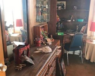 70's wood bedroom set