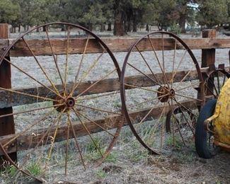 Metal implement wheels