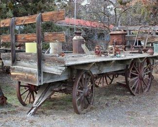 Antique hay wagon