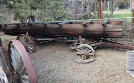 Vintage irrigation canal on wagon equipped w/bunks