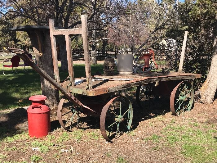 Bend Railroad Depot luggage cart wagon