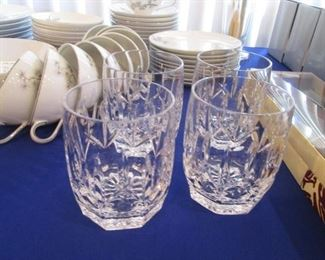 "Set of 4 Waterford Old Fashion Glasses ""Kildare"""
