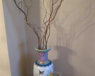 Asian-Style Tall Vase