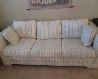 Sofa Sleeper, Pale Stripe Upholstery