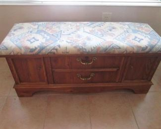 Upholstered Cedar Chest