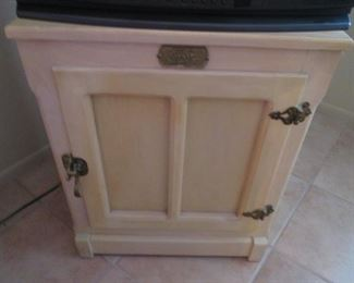 """""""White Clad Furniture Co."""" Ice Box-Style Cabinet"""