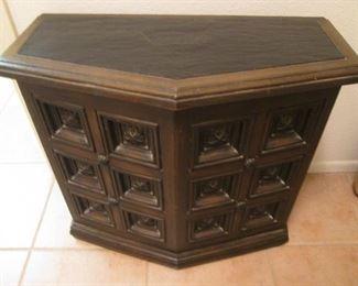 Unusual Shape Mediterranean-Style Console Table