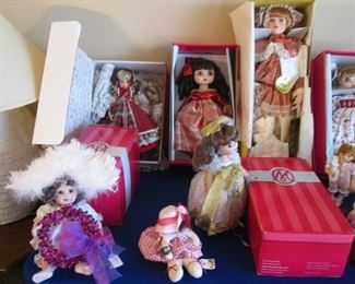 DOLLS, Boxed and Beautiful!  These represent the last of a very large collection.  Your chance to buy at deeply discounted pricing.  Come early for your best selection!