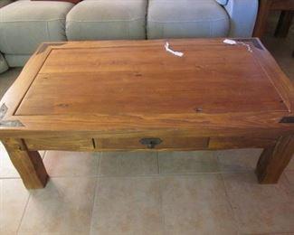 "Very Nice Rustic-Style Coffee Table, 54"" X 32"""