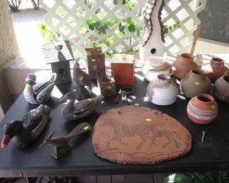 Ceramics, Ducks, Birds and Birdhouses