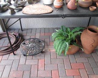 Pots, Plant Stand, Hoses