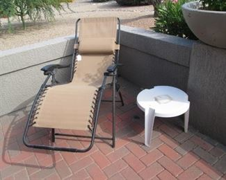 Reclining Chair, Accent Table