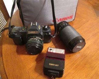 Canon Camera, Flash, Lens & Bag