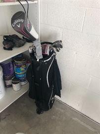 Callaway golf clubs/bag