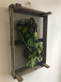 Faux Succulent wall piece large