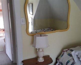 Antique Yellow Mirror