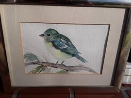 Watercolor of a Bird