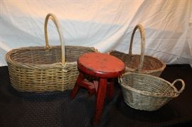 Baskets and stool