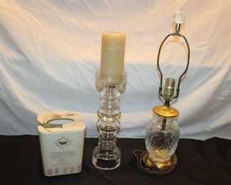 Glass lamp and pillar holder