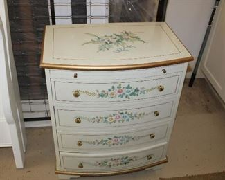 painted small chest of drawers