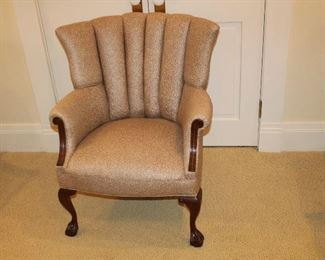 Brown speckled arm chair