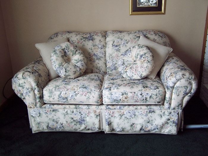 Floral Loveseat with Matching Couch - England by Lazyboy
