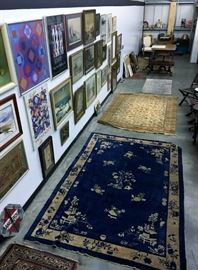 Antique Rugs and Artwork