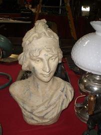 terra cotta art nouveau bust