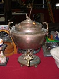 18th century Egyptian influence copper hot water urn