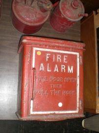 cast iron St.Louis fire alarm call box