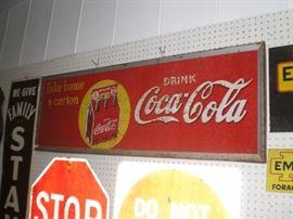 6ft. DRINK Coca-Cola Take home a carton metal sign