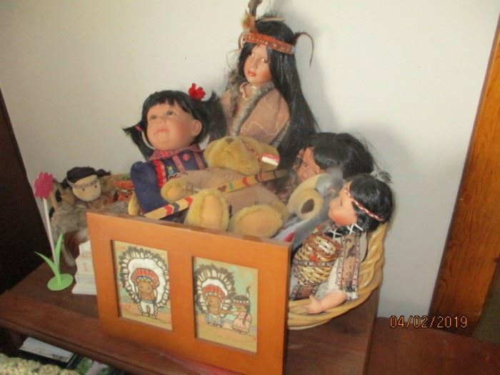 some Native American dolls