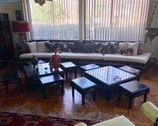 Low Chinese coffee tables & benches