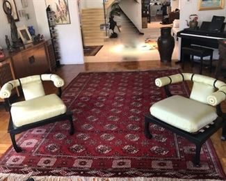 Vintage Pair Chinese chairs