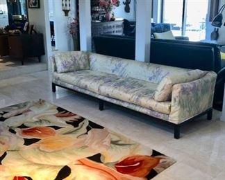 Vintage MCM sofa & area rugs