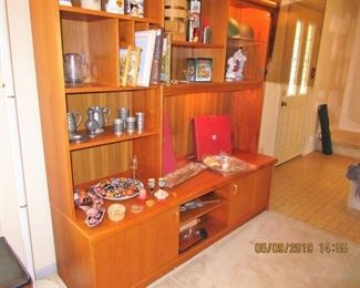 Another Teak Wall Unit, by Udium,  this one would house a flat screen and audio equipment along with all your vintage glassware and decor 70x72x20