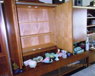 Teak cabinet with bar and lighting mid 60's