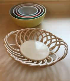 Beautiful Ceramic Bread Dish