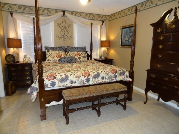 King Size Poster Bed, Solid Cherry Set by Kincaid Furniture