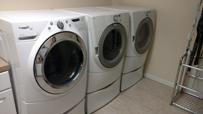 Whirlpool Washer and 2 Dryers. Will sell early $1400, no  offers. Firm!   GAS APPLIANCES